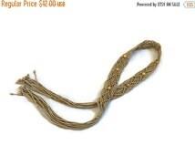 SALE Macrame Belt / 70s Belt / Hippie Belt / 70s Macrame Belt / Beaded Woven Belt / Vintage Macrame Belt / Tie Belt / Boho Belt / Waist Belt