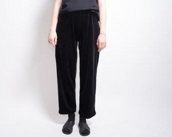 Vintage Velvet Black Stretch Trouser Pant