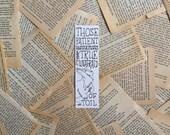 Hufflepuff Motto Harry Potter Bookmark