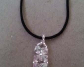 Swarovski AB Crystal Pendant Necklace