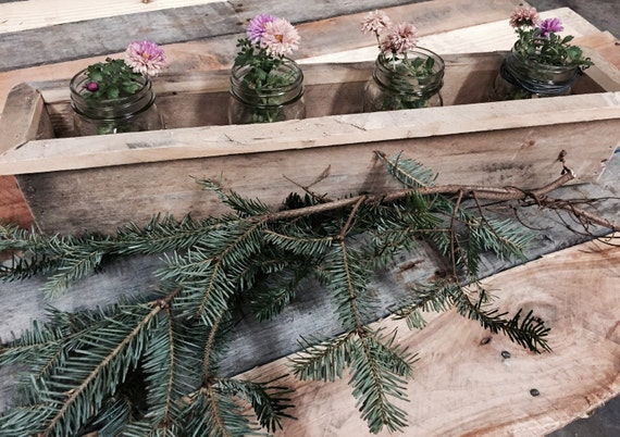 Pallet wood centerpiece by thesouthfields on etsy