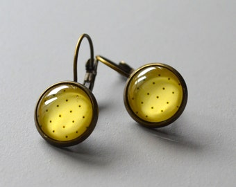 Earrings bronze peas