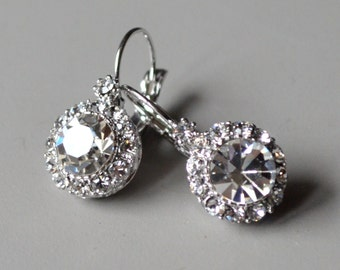 Earrings clear crystal