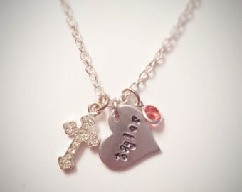 Personalized Charm Necklace - First Communion, Baptism, Confirmation
