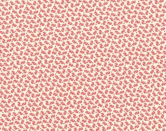 RJR Chocolate & Bubble Gum Pink Cream Squiggles Civil War Fabric 2722-002 BTY