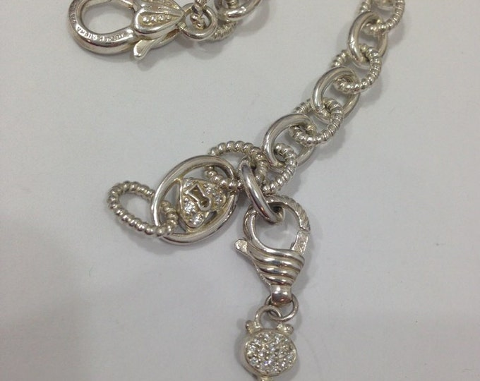 Judith Ripka Key to my Heart Lock Chain Necklace with Enhancer