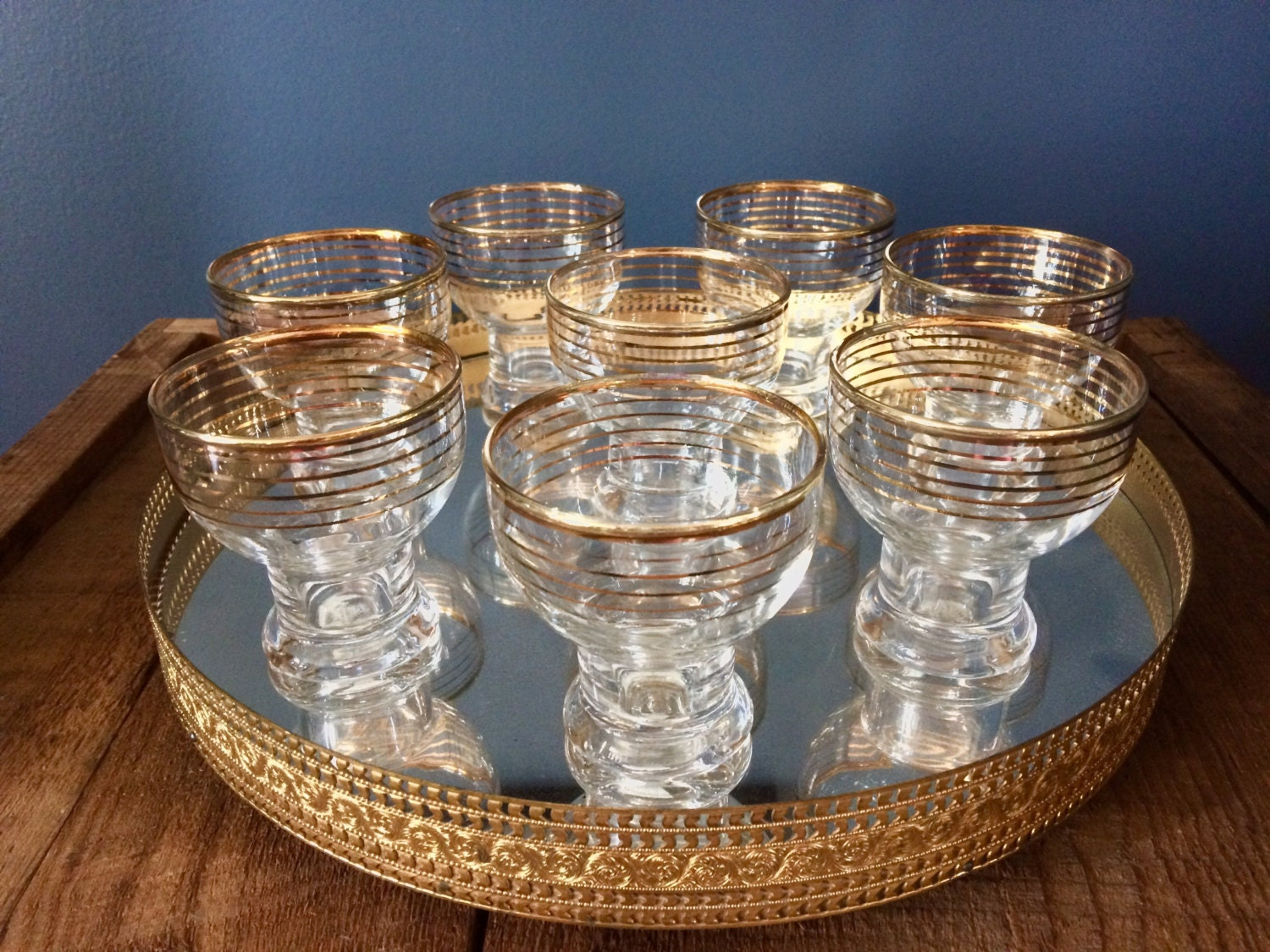unique mid century barware set of 8 shooter glasses 4 ounce