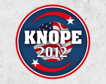 "Leslie Knope Sticker! ""Knope 2012"" parks and recreation, Amy Poehler. pawnee counvil election"