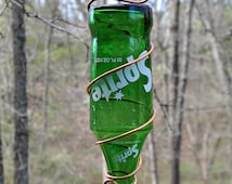"""Vintage 1970s Sprite Bottle Bird Feeder ~ """"The Soda Fountain"""""""