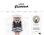 SALE! Love Vivianna Premade Blogger Template - Premium Blogger Theme  - Responsive Blogger  - Minimalist Template Lifestyle Feminine