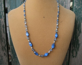Long Beautiful Blue Necklace