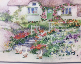 Vintage Dimensions Cottage Garden No Count Cross Stitch Kit No. 3925 NEW Sealed Packaging Dimensions Kit 3925