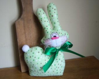 Primitive HC Spring Summer Whimsical Spring Bunny Shelf Sitter Ornie Tuck