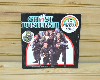Vintage Ghostbusters II Book Collector Stickers 1989 Ghostbusters Columbia Picture Made in USA Movie Collectible Kids