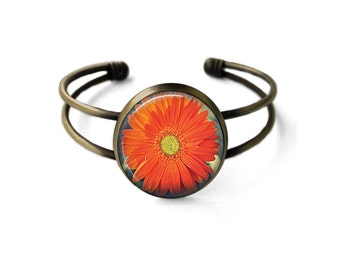 Orange Daisy Bracelet