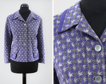 1960s Fulton Purple Houndstooth Jacket