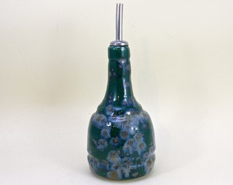 Ceramic oil bottle , Oil dispenser  , Olive oil bottle, vinegar dispenser, olive oil dispenser Made to order