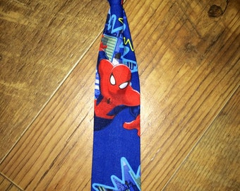 Spiderman boys child tie/Great for pictures and Birthday Parties! can be sized for toddlers and boys - makes a great gift for superhero fan