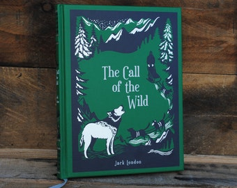 Book Safe - The Call of the Wild - Leather Bound Hollow Book Safe