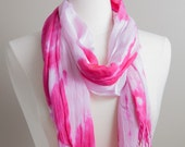 Scarf - Hand Dyed Scarf -...