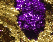Flip Up - Reversible Sequin Fabric - Two Tone Fabric [Gold/Purple] #14