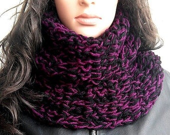 Free Shipping CROCHET SCARF WINTER Air Rasta Love Cowl hood Vegan Scarf Slouch Black Burgundy