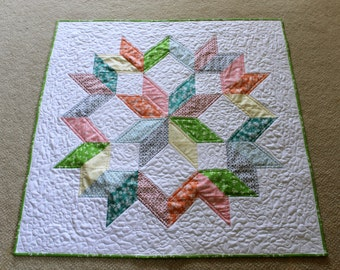 Spectacular Star Baby Quilt ~ Baby Girl Quilt ~ FREE U.S. Shipping