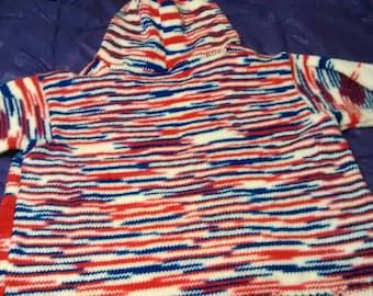 Red, White, and Blue Knit Sweater
