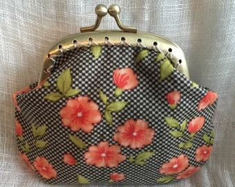 Flowers on Polka Dots Coin Purse