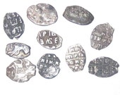 Russian Imperial Silver Coin Flake - Peter 1 from 1682 to 1725