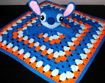 Stitch Lilo and Stitch Snuggle Buddy Baby Security Blanket