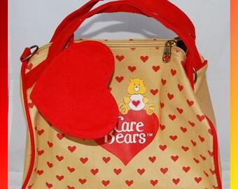 So Cute Vintage Care Bear Purse with Change Purse
