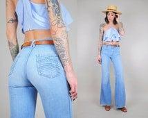 70s Chevron pocket Bell Bottom Jeans