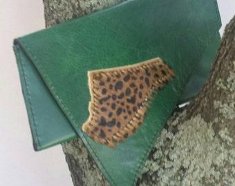 Leaping Leopard clutch