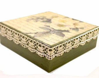 Personalized jewelry box wooden jewelry box vintage jewelry box accessories box gift for her jewelry storage box for jewelry