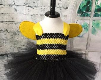 Bumble Bee tutu, Bumble Bee dress, Bumble Bee Costume, Bee tutu, Bee dress, Bee costume, Infant bee costume, Infant Bumble Bee costume,