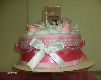 1 tier XL diaper cake with goodies