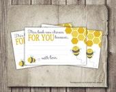 Bee Baby Shower Printable - Digital Baby Shower Book Insert - Mom to Bee Book Insert - Bee Theme - Printable Honey Bee Shower Card Insert