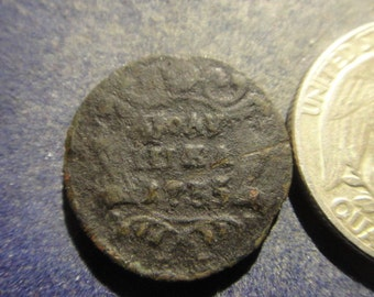 Russia 1735 Copper Coin ***FREE SHIPPING***