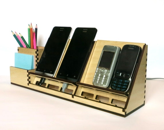 charging station organizer items similar to charging station organizer wooden desk 29409