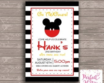Oh Twodles--Mickey Mouse Birthday Invitation