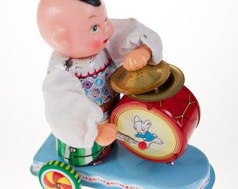 Child Beating Drum 60's Toy