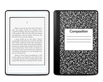 Amazon Kindle Skin - Composition Notebook - Sticker Decal - Fits Paperwhite, Fire, Voyage, Touch, Oasis