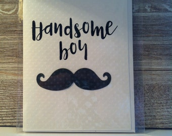 Handsome Boy Greeting Card
