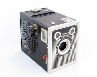 Steampunk Wireless Next Gen Bluetooth Speaker - ANSCO Shur Shot Special Camera - Music Lover Gift