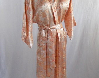 Vintage Women's Chinese Robe Dressing Gown Large