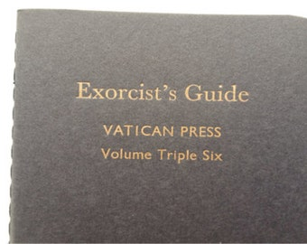 Exorcist - Small Funny Letterpress Notebooks, Journals, Jotters, Cahiers, Carnets