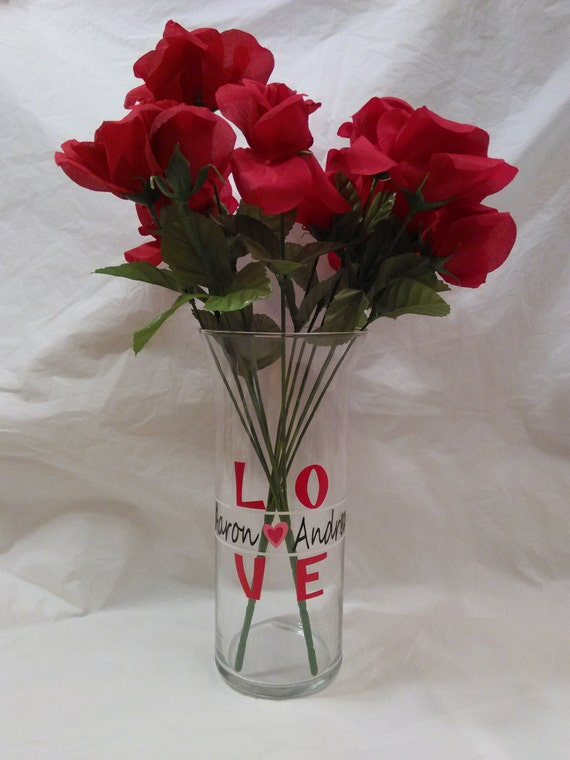 Valentine Decorative Vase/candle Holder.  Approximately 9 Photo Gallery