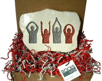 O-H-I-O Silhouette in Scarlet and Gray  - Ohio State, the Buckeye State - w/ Gift Box