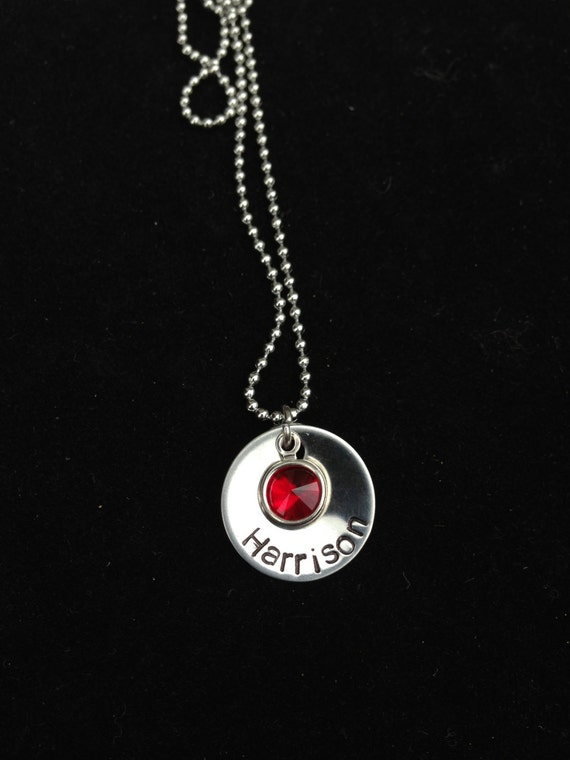 Personalized Necklace with Swarovski Birthstone- Great Gifts for Mums and Grandmas